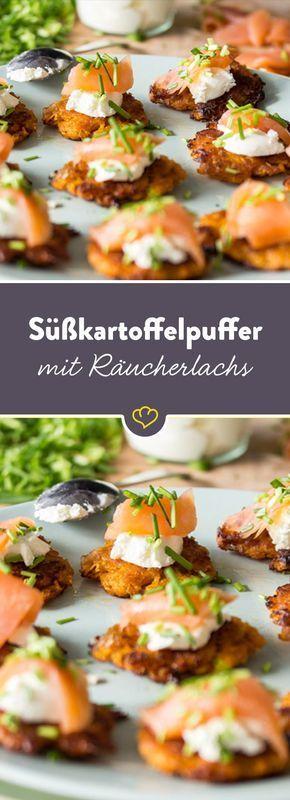 Photo of Süßkartoffelpuffer mit Griechischem Joghurt und Räucherlachs