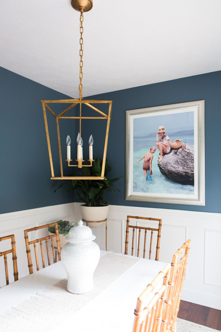 Dining Area That Doesnt Take Itself Too Seriously Dusty Blue Benjamin Moore Mozart Similar Shade