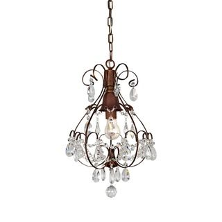 Brushed Oak Brown Light Teardrop Crystal Chandelier - Teardrop chandelier crystals