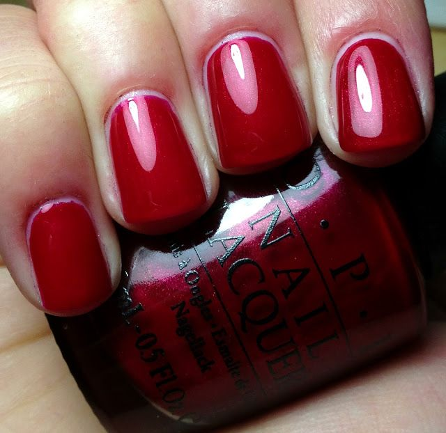 Merry Crimson- $ 19 fill line at rim | OPI in 2019 | Nail polish ...