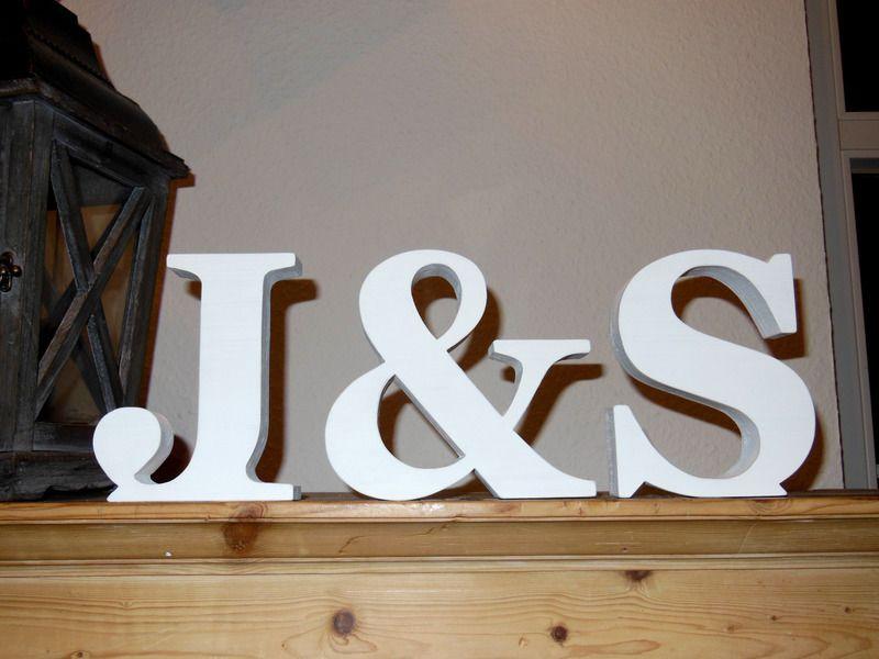 Buchstaben & Schriftzüge - *Anfangsbuchstaben eines Paares,* deckend lackiert - ein Designerstück von Designsouris bei DaWanda