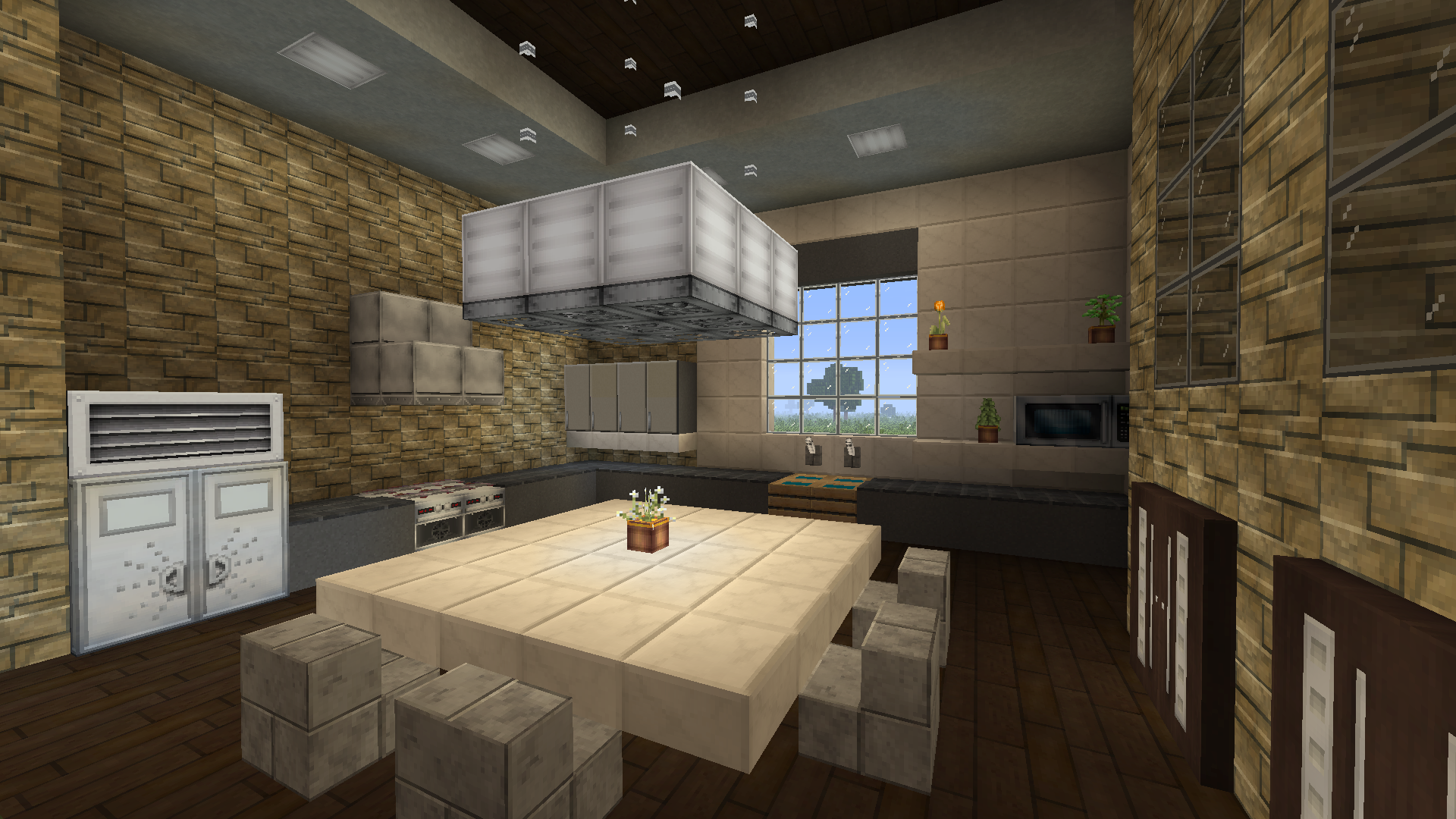 My Ultra Lux Modern Kitchen Minecraft Modern Kitchen Interior Design Kitchen Kitchen Cabinet Design