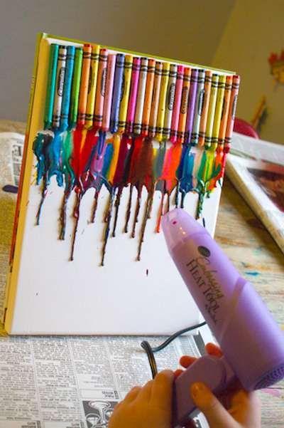 Pastelli a cera 10 idee per il riciclo creativo dei for Bricolage creativo