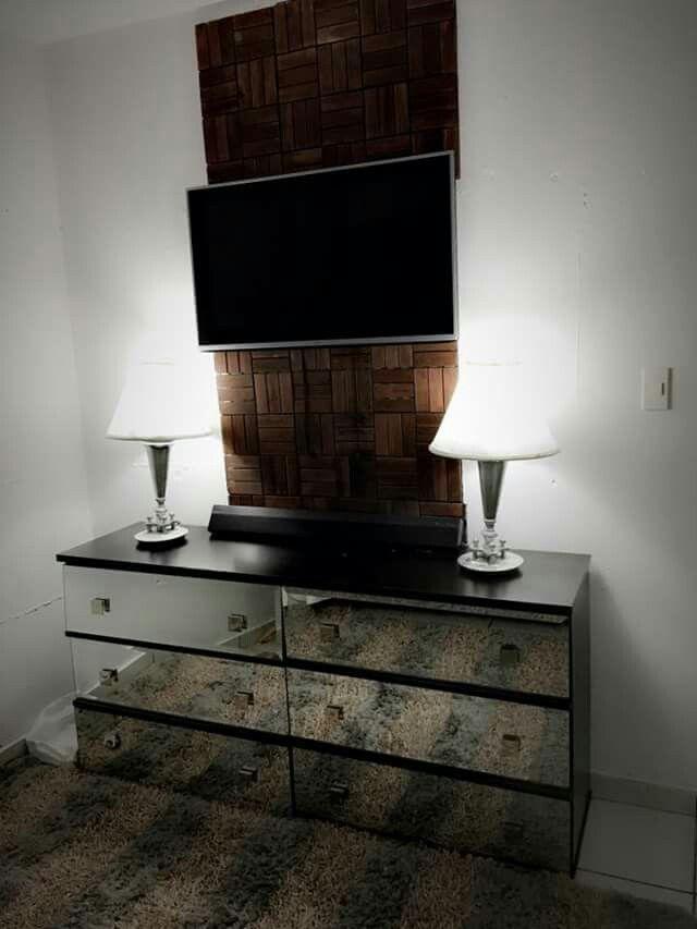 mueble de pared moderno para tv buffett de esoejo lamparas