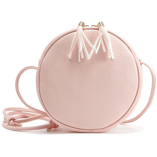 Tassel Round Shaped Crossbody Bag ( 12) ❤ liked on Polyvore featuring bags