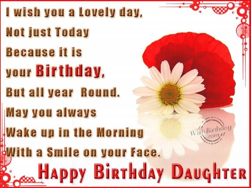 17 Best ideas about Birthday Wishes Daughter – Birthday Greeting for a Daughter