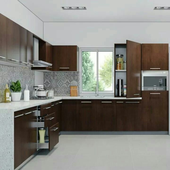 Contemporary L Shaped Kitchen Designs: Pin By Sushmitha Rammohan On Home Decor