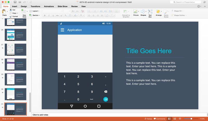 Android app prototyping using material ui powerpoint design kit android app prototyping powerpoint template make your android app prototyping very easy in microsoft powerpoint toneelgroepblik Gallery
