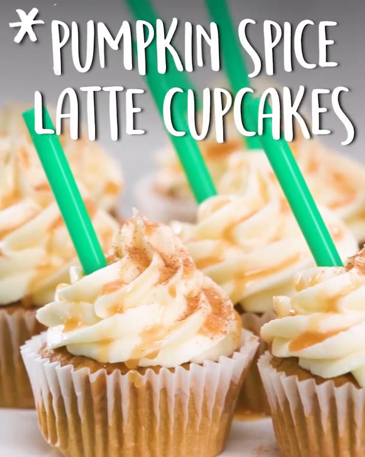 #Pumpkin Spice Latte #Cupcakes #pumpkinspicecupcakes