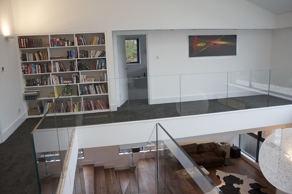 Mezzanine library dreamhome pinterest mezzanine open plan and house - Open mezzanine ...