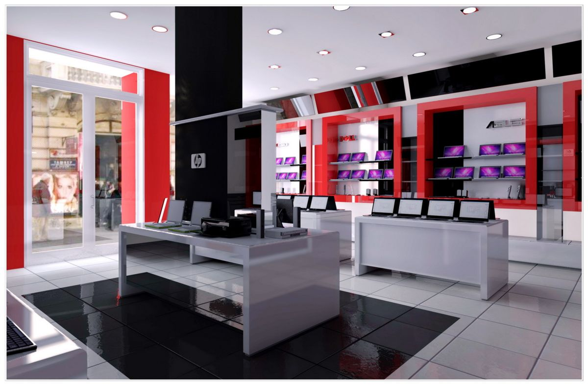 Interior Design Of Building - Computer Shop | 116 | Pinterest ...