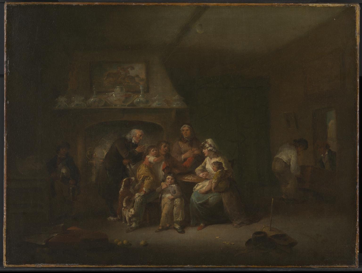 Julius Caesar Ibbetson 'A Married Sailor's Return', c.1800