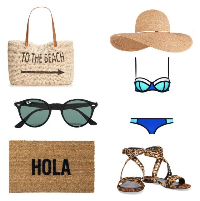 """Beach"" by legendarys4life ❤ liked on Polyvore featuring Eugenia Kim, Donna Karan, Style & Co., Ray-Ban, Reed Wilson Design, women's clothing, women, female, woman and misses"