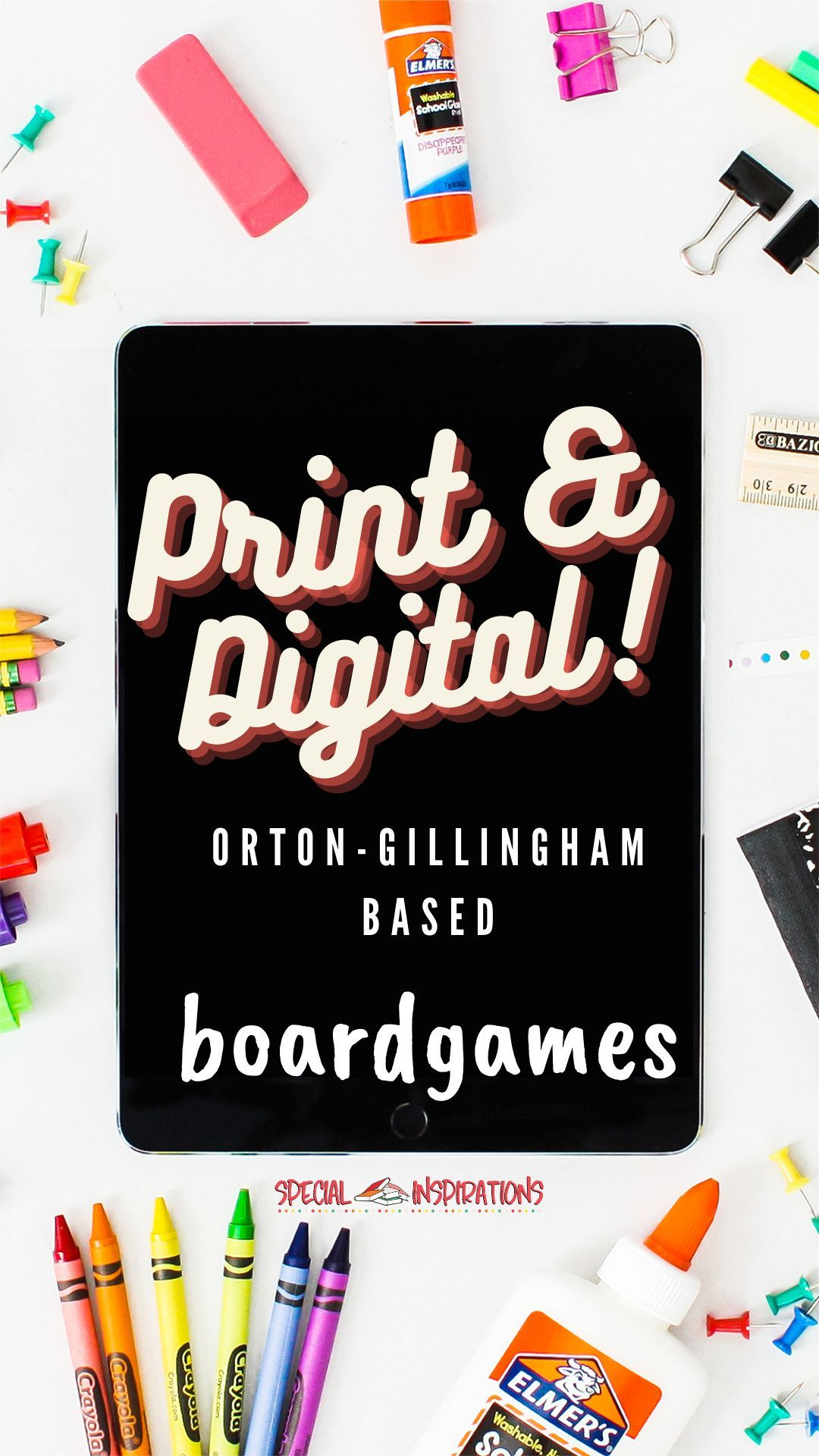 Orton Gillingham Inspired Phonics Board Games