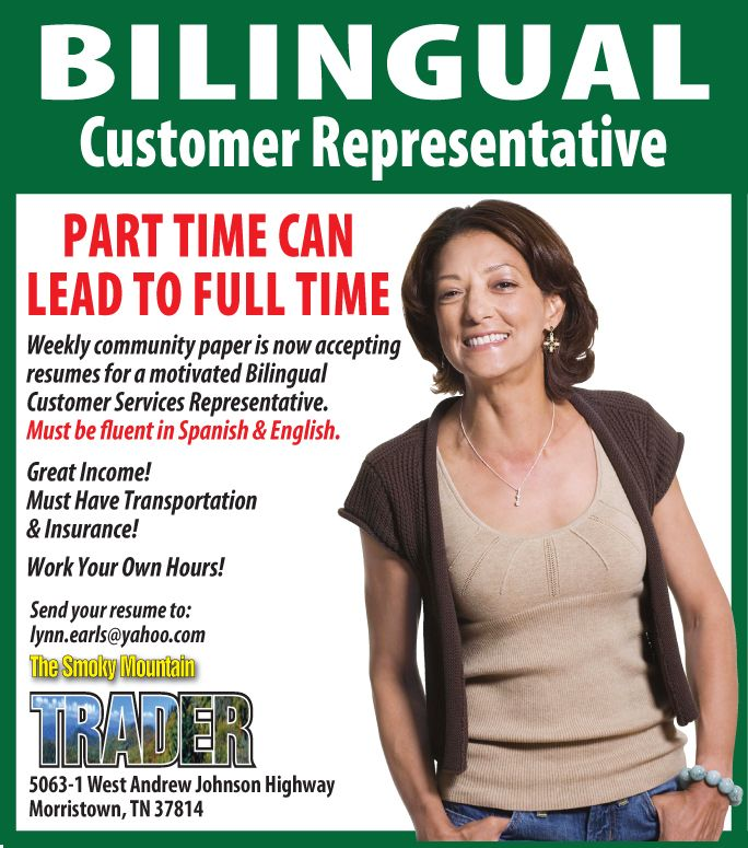 Bi-Lingual Customer Representative Part Time can LEAD to Full Time - Resume Now Customer Service
