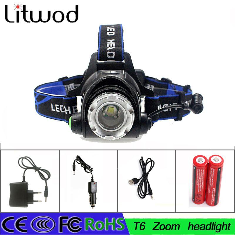 Rechargeable XML-T6+COB Headlamp 18650 Headlight Head Lamp TorchP xj