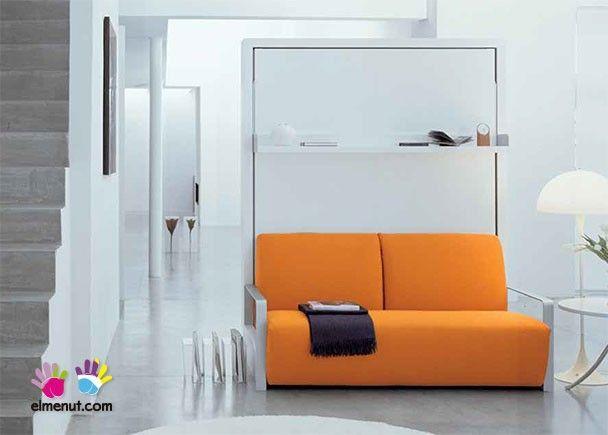 Sal n con cama abatible vertical de matrimonio 012 ito - Mueble salon con cama abatible ...