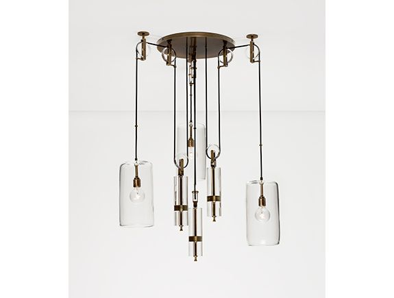 Counterweight chandelier by alison berger glassworks hollyhunt counterweight chandelier by alison berger glassworks hollyhunt interiors pinterest holly hunt chandeliers and lights aloadofball Images