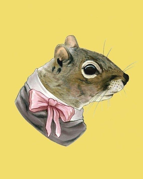 Eichhörnchen-Dame Drucken 8 x 10