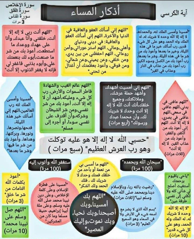 اذكار المساء Islamic Phrases Islamic Inspirational Quotes Islamic Quotes
