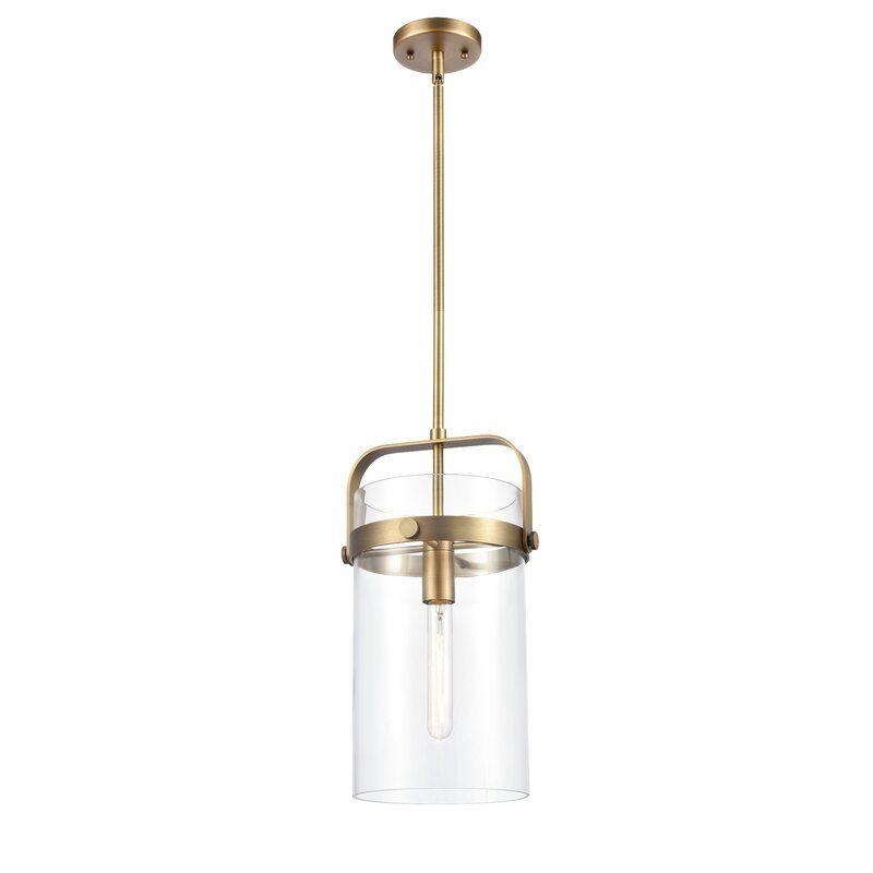 Hortencia 1 Light Single Cylinder Pendant Glass Pendant Light Pendant Light Light