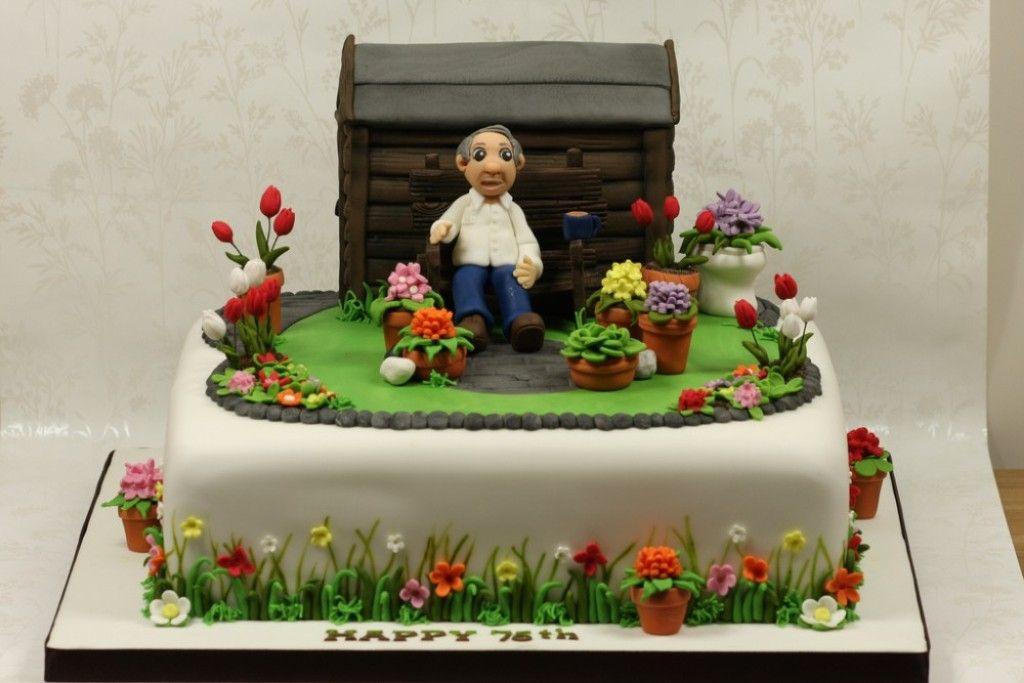 75th Birthday Cakes For Grandpa GARDEN CAKES Pinterest 75th