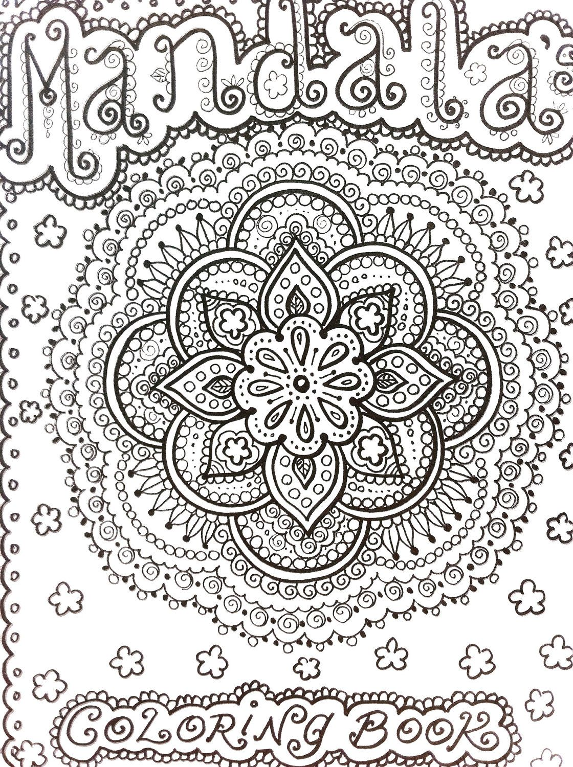 Coloring pages relaxing - Mandala Abstract Doodle Zentangle Coloring Pages Colouring Adult Detailed