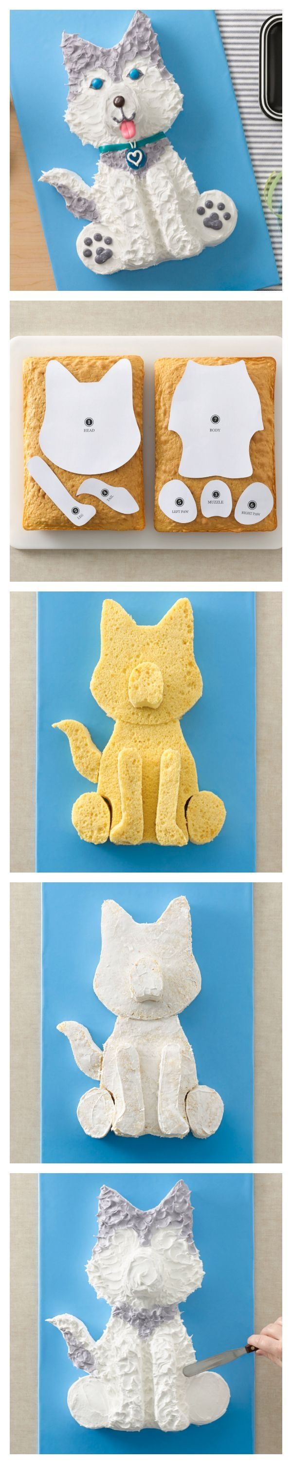 Husky Dog Cake and template for your favorite Husky! by ...