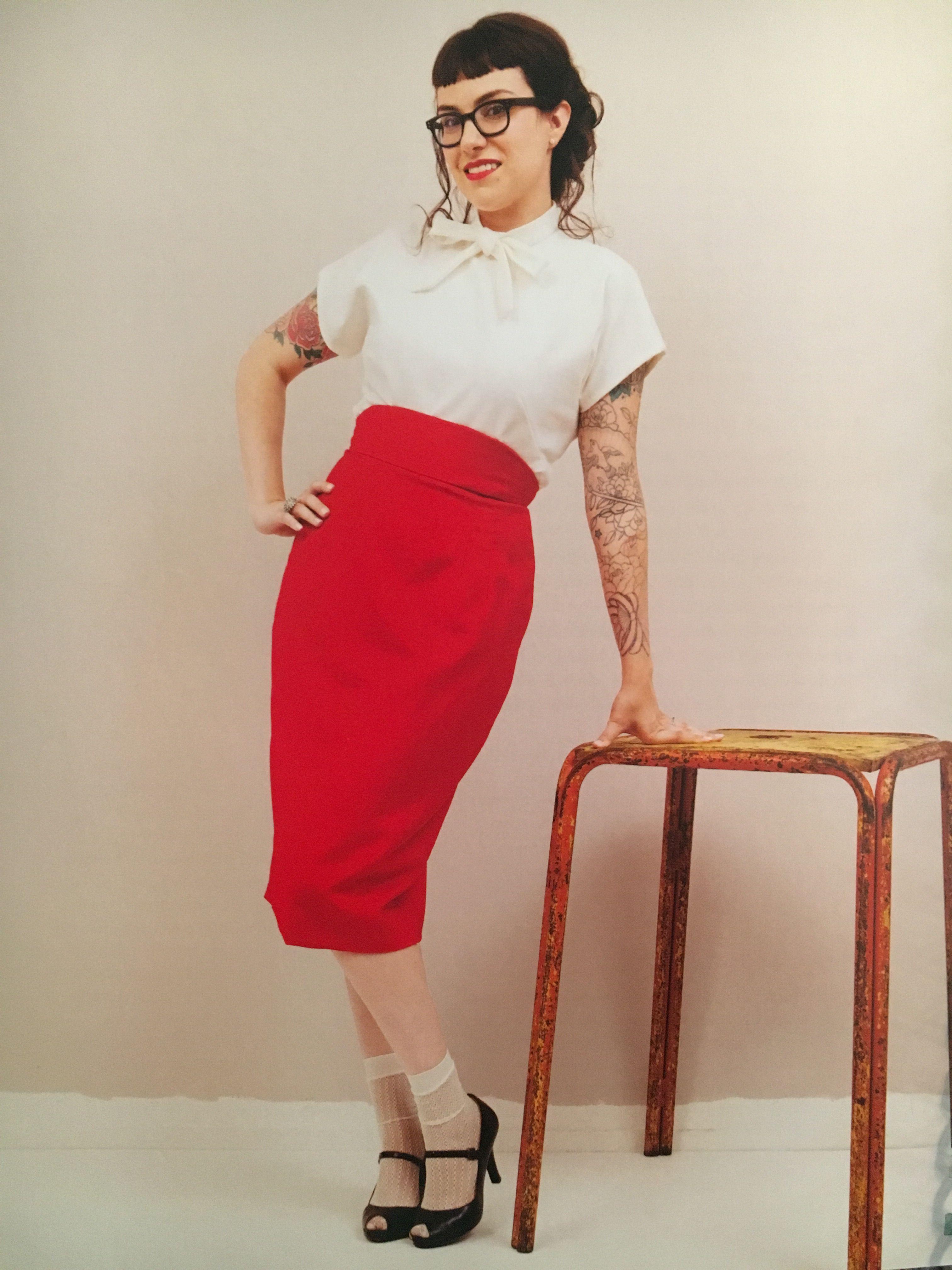 Gertie NBfBS-The Pencil Skirt-1 yard underlining (optional), 1 yard ...