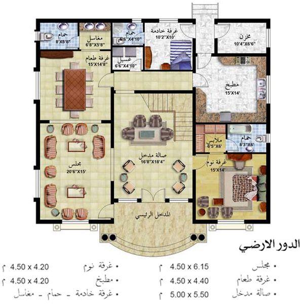 تصميم بيت الاحلام مسقط تصميم فلل فلل بطراز عربي واجهةمنازل خليجي ارقى التصاميم مميز منتدى النرجس Square House Plans Model House Plan My House Plans