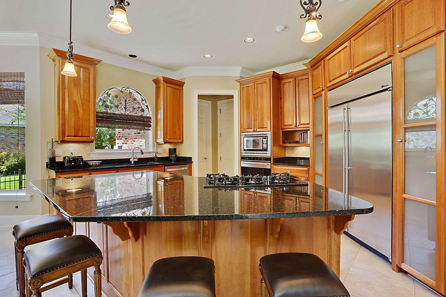 A beautiful modern kitchen with all stainless steel