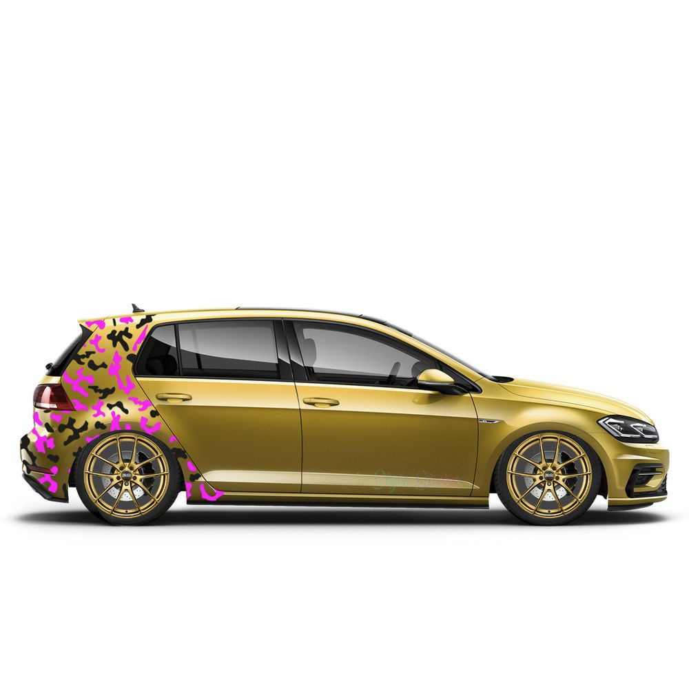 Seitenaufkleber Auto Camouflage Aufkleber Tarn Camo Pixel Xs Set 2
