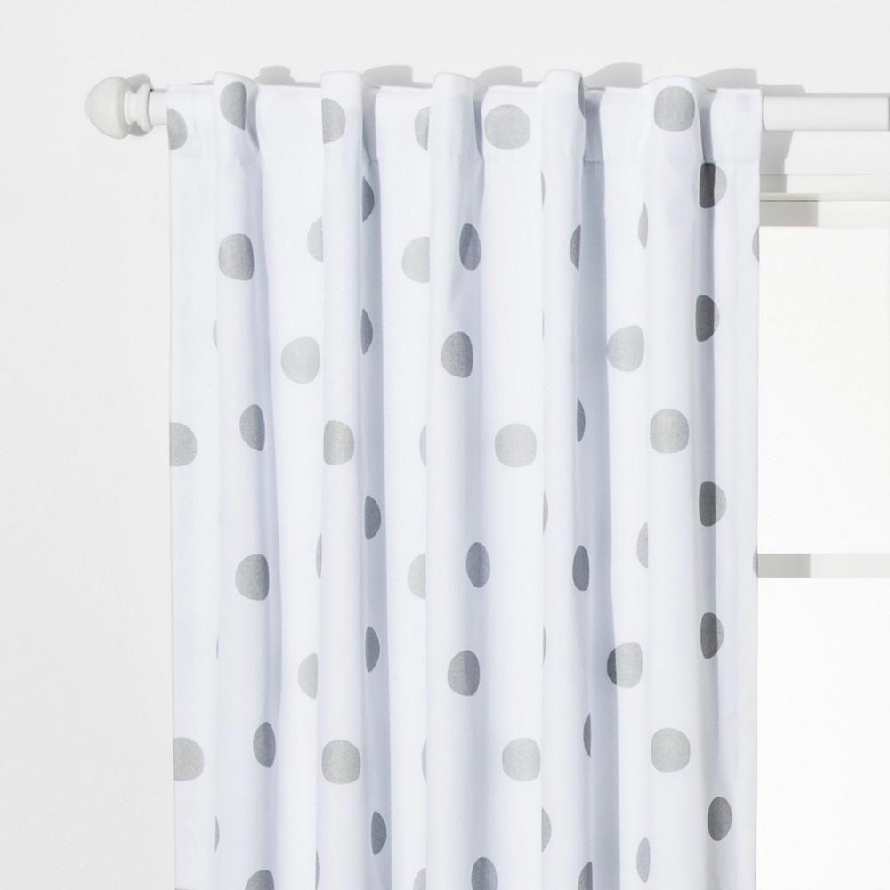 Dot Blackout Curtain Panels Silver 42 Quot X63 Quot Pillowfort