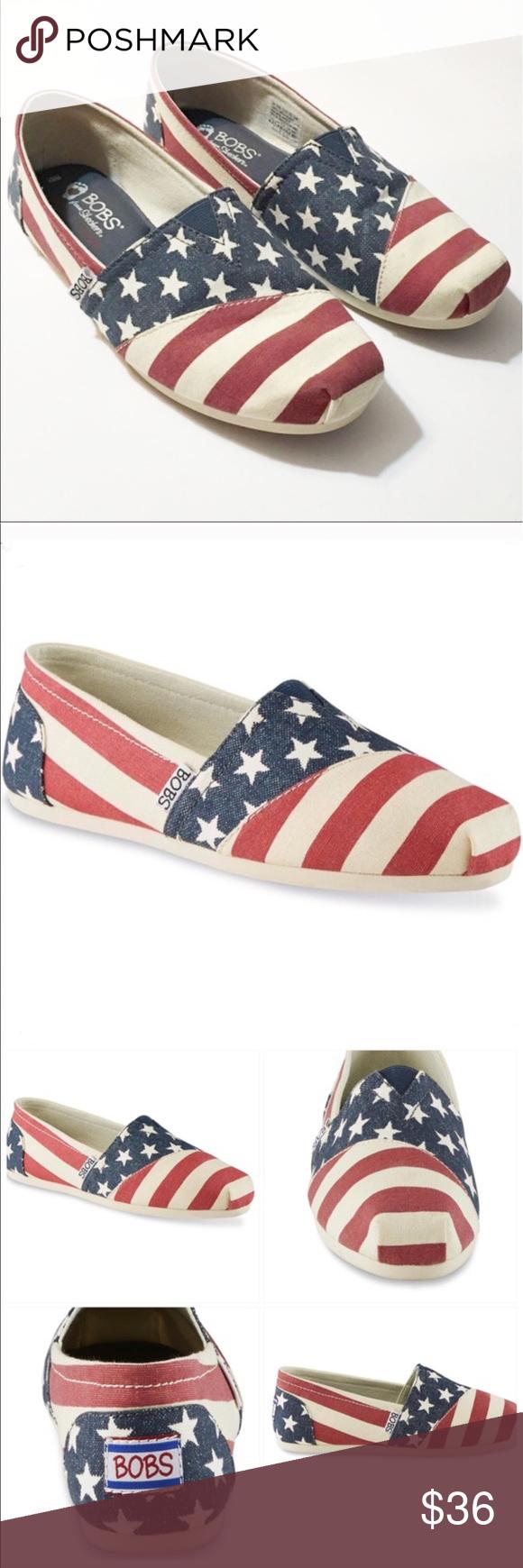 BOBS American Flag Canvas Flat
