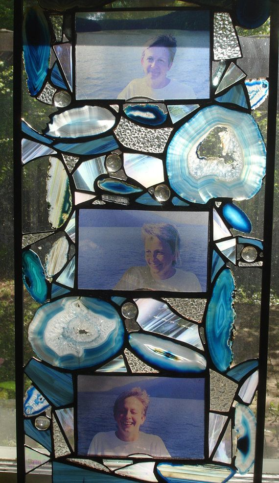 Agate and Glass Picture Frame
