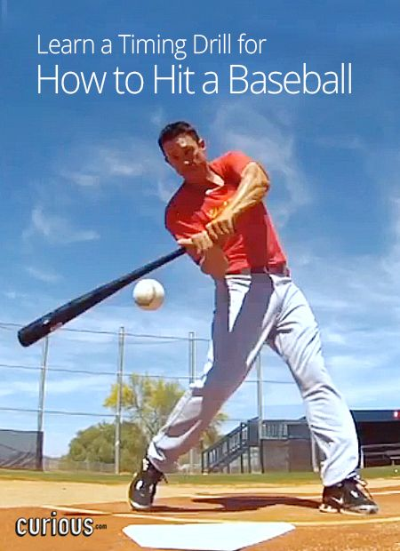 Timing Drill For How To Hit A Baseball Baseball Workouts Baseball Drills Baseball Hitting Drills
