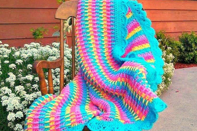 Bobble Stitch Crochet Blanket Pattern Video