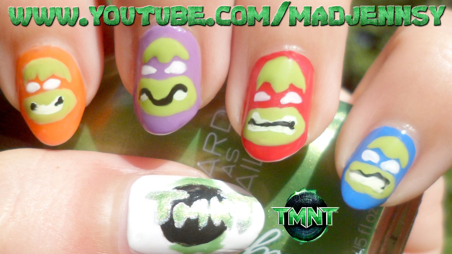 Teenage Mutant Ninja Turtles Nail Art (Flat & Easy!) Watch HD Nail ...