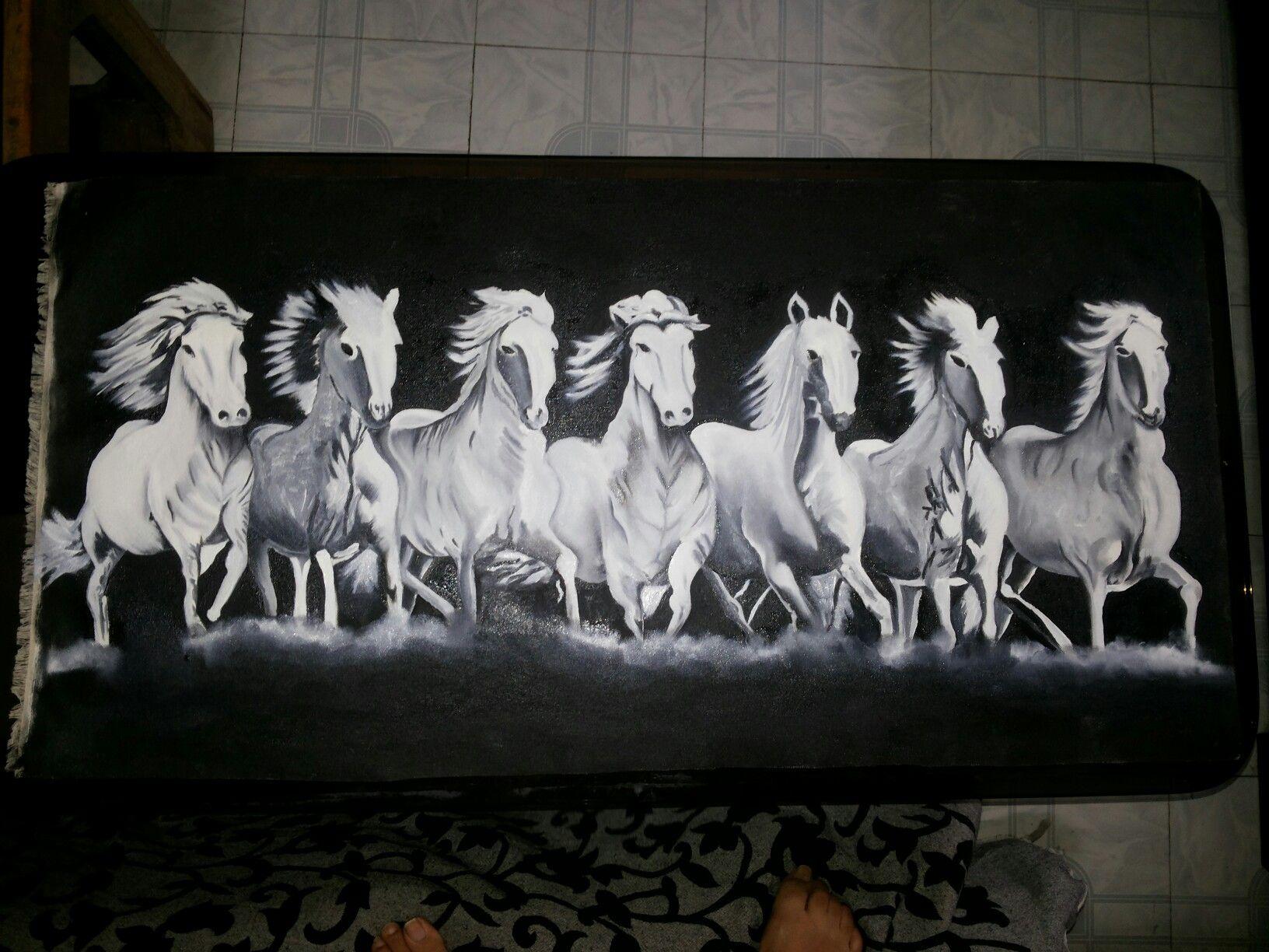 Seven Horses Seven Horses Painting Horse Art Horses