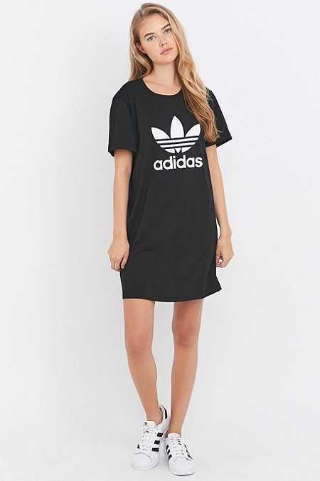 añadir profundamente Delgado  adidas Originals Trefoil Black T-shirt Dress | Roupas adidas ...