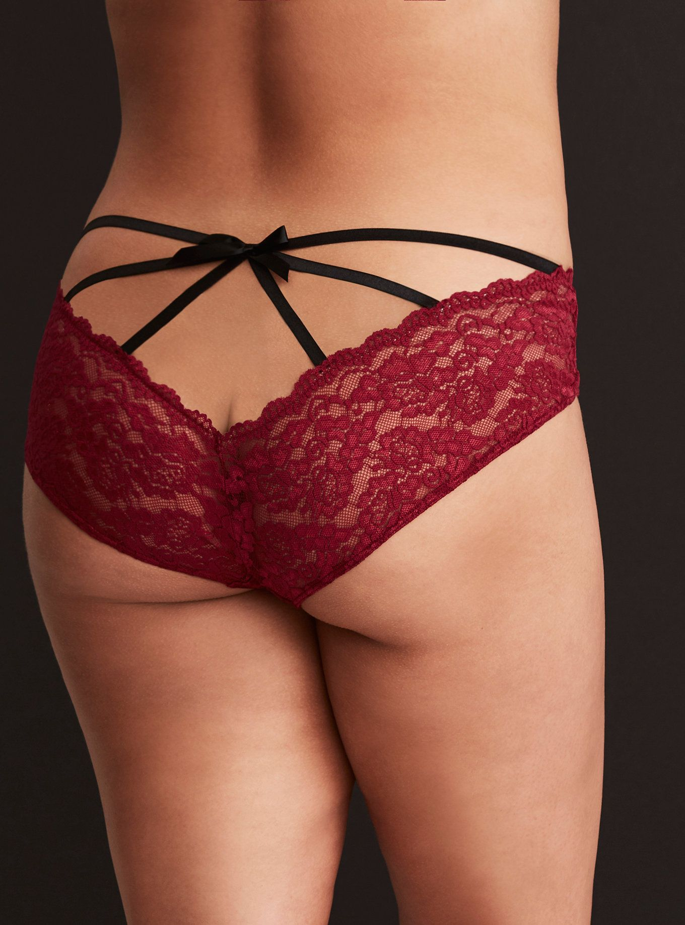 4d9d4b7ed32a Red Microfiber Lace Caged Back Hipster Panty | Wishlist $10-$30 ...