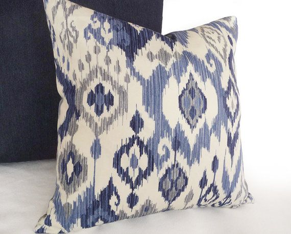 ikat pillow blue ikat pillow covers