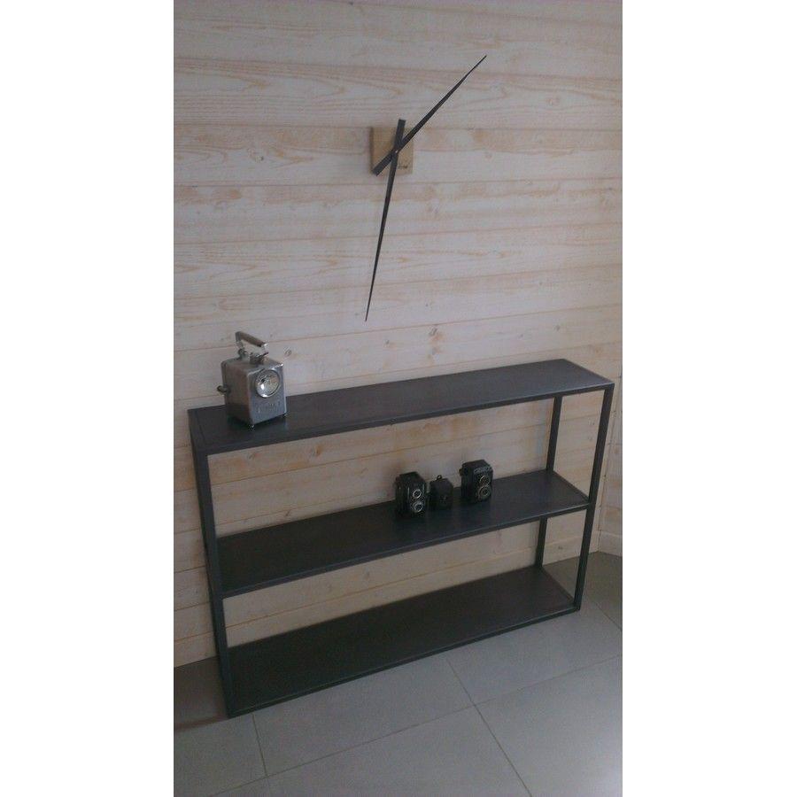 Fabrication d 39 une console industrielle en acier cr ation restauration de meuble industriel - Restauration meuble industriel ...