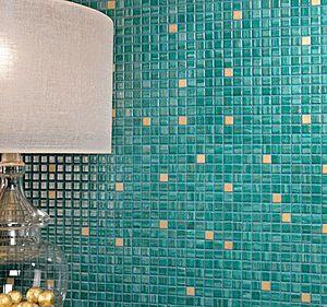 Aqua Recycled glass mosaic tile