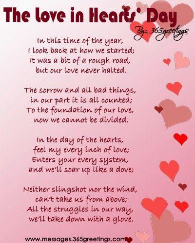 VALENTINES DAY ROMANTIC POEMS | Valentine\'s Day | Pinterest ...