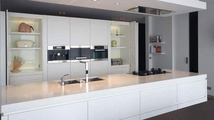Totaal ingerichte moderne keuken composiet hoge kwaliteit en