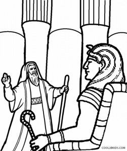 Moses And Pharaoh Coloring Pages Biblejskoe Tvorchestvo Pinterest