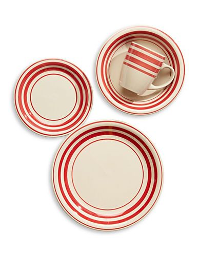 Brands | Dining | 16-Piece Portland Striped Dinnerware Set | Hudsonu0027s Bay  sc 1 st  Pinterest & Brands | Dining | 16-Piece Portland Striped Dinnerware Set ...