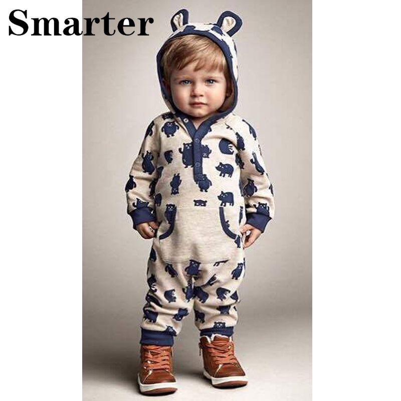 bc1ba58d915 Newborn Romper Infant Kids cartoon Print Rompers Long Sleeve Baby Boys  Girls Outfits Jumpsuit Clothes