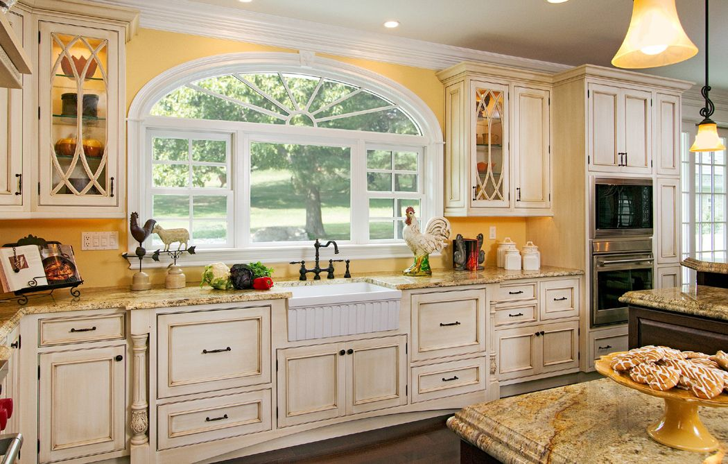Best Whitewashing Kitchen Cupboards Cottage Kitchen Bathed In 400 x 300